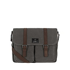 Conkca London - Slate 'Borough' canvas and leather satchel