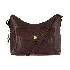 Conkca London - Conker brown 'Angel' handcrafted leather hobo bag