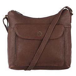 Conkca London - Claret 'Angel' veg-tanned leather bag