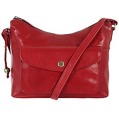 Conkca London - Cranberry 'Angel' handcrafted waxed leather bag