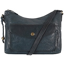 Conkca London - Denim blue 'Angel' handcrafted waxed leather bag
