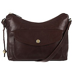 Conkca London - Conker brown 'Angel' handcrafted leather cross-body bag