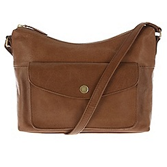 Conkca London - Tan 'Angel' leather cross-body bag