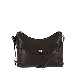Conkca London - Vintage brown 'Angel' tumbled cross-body bag