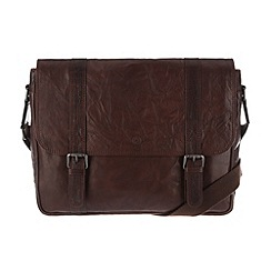 Conkca London - Conker brown 'Livingstone' handcrafted leather satchel
