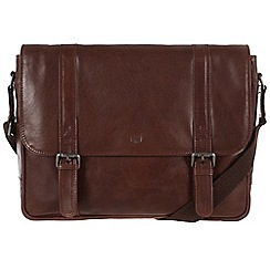 Conkca London - Conker brown 'Livingstone' handcrafted leather bag