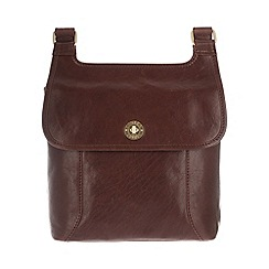 Conkca London - Conker brown 'Molly' handcrafted leather across body bag