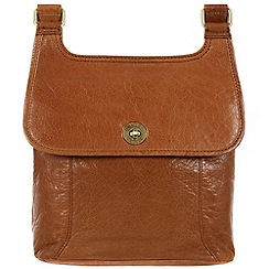 Conkca London - Tan 'Molly' handcrafted leather bag