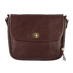 Conkca London - Conker brown 'Gabrielle' handcrafted leather across body bag
