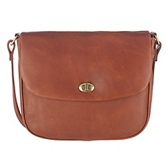Conkca London - Cognac 'Gabrielle' veg-tanned leather satchel