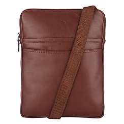 Conkca London - Whiskey 'Cooper' veg-tanned leather despatch bag