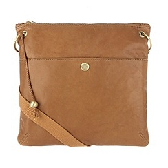 Conkca London - Antique tan 'Odella' handcrafted leather cross-body bag