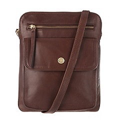 Conkca London - Conker brown 'Tess' handcrafted leather bag