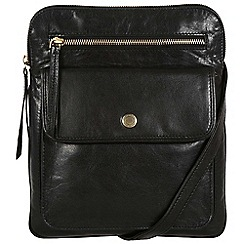 Conkca London - Oxford black 'Tess' handcrafted leather bag