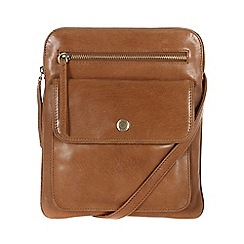 Conkca London - Dark tan 'Tess' handcrafted waxed leather bag
