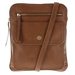Conkca London - Tan 'Tess' leather cross-body bag