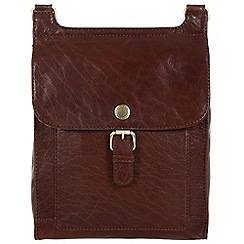 Conkca London - Conker brown 'Seraphina' handcrafted leather bag