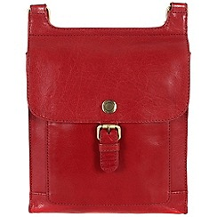 Conkca London - Cranberry 'Seraphina' handcrafted waxed leather small bag