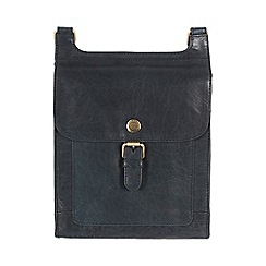 Conkca London - Denim blue 'Seraphina' handcrafted waxed leather small bag