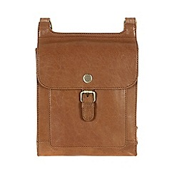 Conkca London - Dark tan 'Seraphina' handcrafted waxed leather small bag