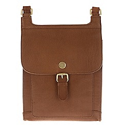Conkca London - Tan 'Seraphina' leather cross-body bag