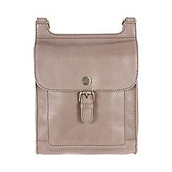 Conkca London - Zinc 'Seraphina' handcrafted waxed leather small bag