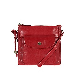 Conkca London - Cranberry 'Shirley' handcrafted waxed leather bag