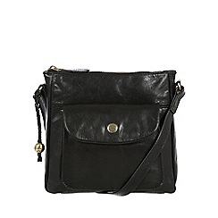 Conkca London - Black 'Shirley' leather cross-body bag