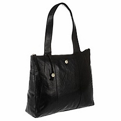 Conkca London - Antique black 'Kim' handcrafted leather bag