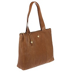 Conkca London - Antique tan 'Kim' handcrafted leather bag