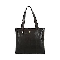 Conkca London - Black 'Kim' handcrafted leather handbag