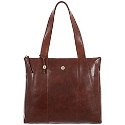 Conkca London - Conker brown 'Kim' handcrafted leather handbag