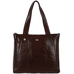 Conkca London - Dark brown 'Kim' handcrafted leather bag