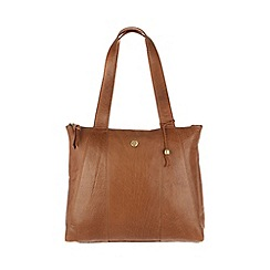 Conkca London - Dark tan 'Kim' handcrafted leather shoulder bag