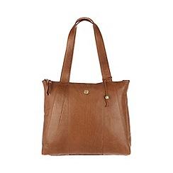 Conkca London - Dark tan 'Kim' handcrafted leather shoulder bag