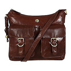 Conkca London - Conker brown 'Nightingale' leather hobo bag