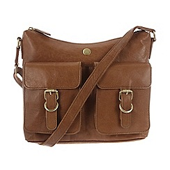 Conkca London - Tan 'Nightingale' leather hobo bag