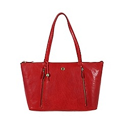 Conkca London - Cranberry 'Chloe' handcrafted leather hand bag