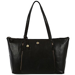 Conkca London - Black 'Chloe' handcrafted leather hand bag