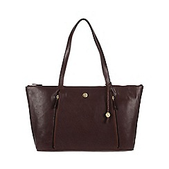 Conkca London - Conker brown 'Chloe' handcrafted leather handbag