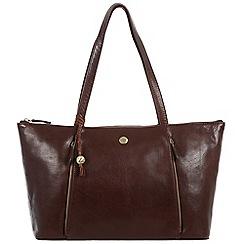 Conkca London - Dark brown 'Chloe' handcrafted leather handbag