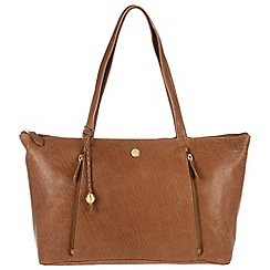 Conkca London - Vintage tan 'Chloe' handcrafted leather handbag