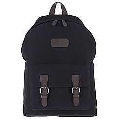 Conkca London - Vintage navy 'Bowland' canvas and leather backpack