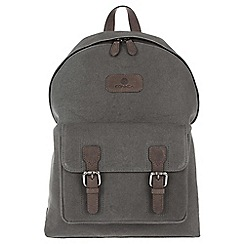 Conkca London - Vintage slate grey 'Bowland' canvas and leather backpack