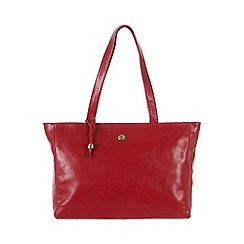 Conkca London - Cranberry 'Rita' handcrafted waxed leather bag