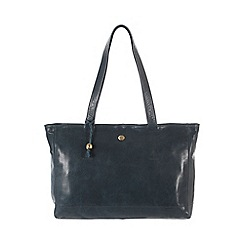 Conkca London - Denim blue 'Rita' handcrafted waxed leather bag
