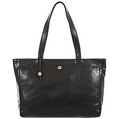 Conkca London - Black 'Rita' handcrafted leather handbag