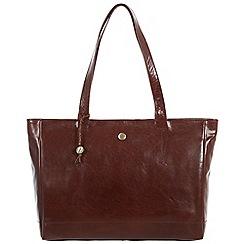 Conkca London - Conker brown 'Rita' handcrafted leather handbag