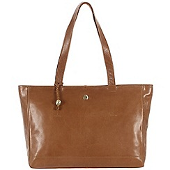 Conkca London - Dark tan 'Rita' handcrafted waxed leather bag