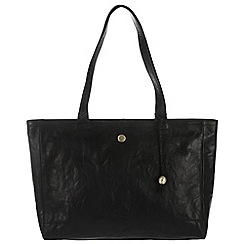 Conkca London - Vintage black 'Rita' tumbled leather handbag